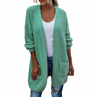 MENAB Waterfall Cardigan for Women Winter Lightweight Chunky Knitted Sweater Jumper Cardigan Womens Hooded Cable Knit Cardigan Fleece Button Down Sweater Wool Coat Jackets Outwear Tops