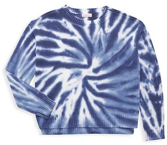 Design History Girl's Tie-Dye High-Low Sweater