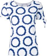 J.W.Anderson circle print T-shirt - women - Cotton - XS