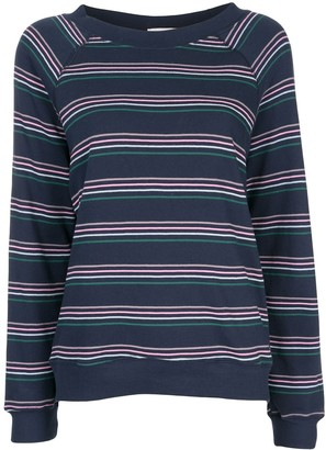 Wildfox Couture Striped Long-Sleeve Sweatshirt