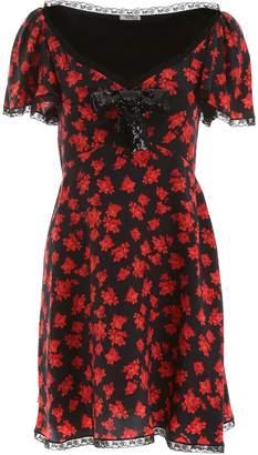 Miu Miu Floral Glittered Bow Dress