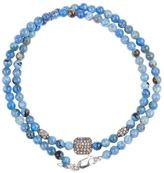 Catherine Michiels crystal square beaded necklace