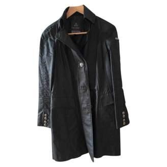 Peuterey Black Cotton Trench Coat for Women