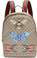 Gucci GG Supreme insect-print canvas backpack