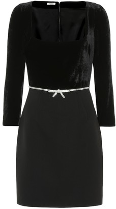 Miu Miu Velvet and stretch-wool minidress
