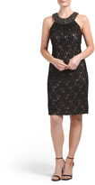 Beaded Collar Lace Dress