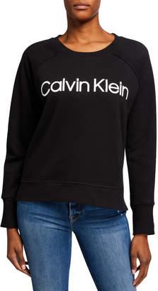Calvin Klein Rib-Trim Logo Sweatshirt
