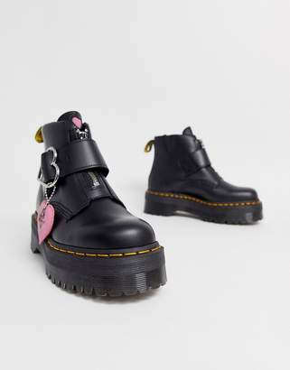Dr. Martens x Lazy Oaf chunky Buckle Boot-Black