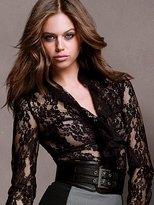 Victoria's Secret Lace Ruffle-front Shirt