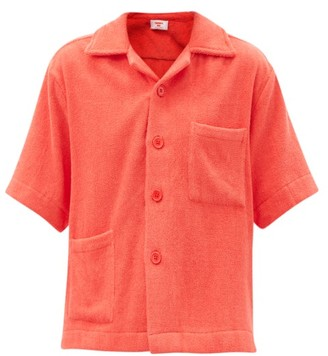 Terry - Boxy Cotton Terry-toweling Shirt - Red