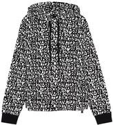 Moncler Grenoble logo-jacquard hooded sweatshirt
