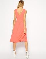 Asos Sleeveless Midi Skater Dress with Wrap Back