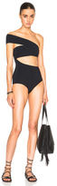 Alix Shelborne Swimsuit in Black.