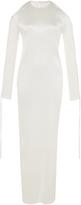 Barbara Casasola White Open Shoulder Dress