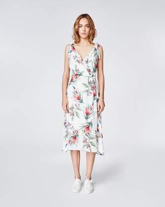 Nicole Miller Tropicale V Neck Dress
