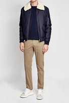 A.P.C. Cotton Jacket with Detachable Faux Shearling Collar