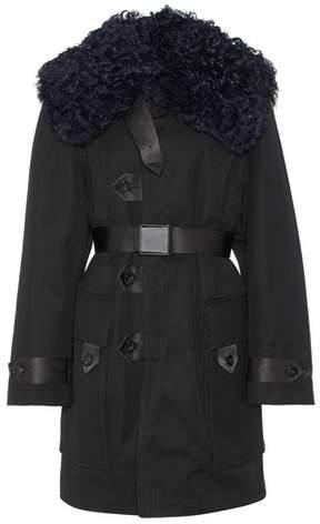 Acne Studios Cornel shearling-trimmed coat