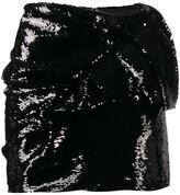 Alexandre Vauthier foldover sequinned mini skirt