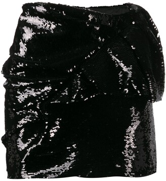 Alexandre Vauthier foldover sequinned mini skirt