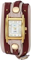 La Mer Women's Quartz Metal and Leather Casual Watch, Color:Champagne (Model: LMSW8001)