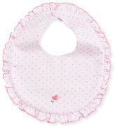 Kissy Kissy Once Upon A Time Heart Bib, Pink