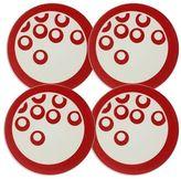 Mikasa Circle Chic Red Coasters, Set of 4