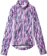 Joe Fresh Kid Girls' Funnel Neck Zip Jacket, Neon Purple (Size S)