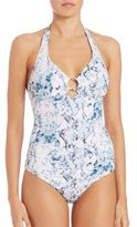 Heidi Klein One-Piece D-G Ring Control Swimsuit