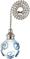 Westinghouse LIGHTING CORP 12-Inch Clear Orb With Blue Ceiling Fan Pull Chain