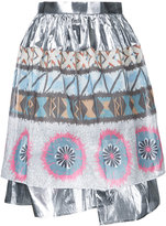Kolor metallic gathered skirt - women - Cotton - 2