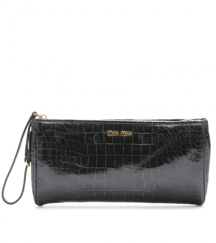 Miu Miu Patent leather clutch