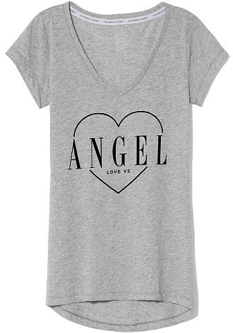 Victoria's Secret Supermodel Essentials Burnout V-neck Tee