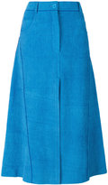 Nina Ricci ribbed flared skirt