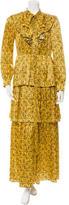 Sonia Rykiel Fall 2016 Silk Printed Dress w/ Tags