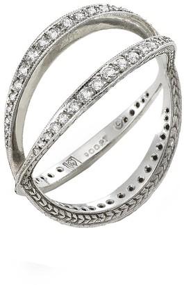 Cathy Waterman Infinity Band Platinum Ring