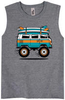 Instant Message Boys' Tank Tops ATHLETIC - Athletic Heather Monster Surf Van Muscle Tank - Toddler & Boys