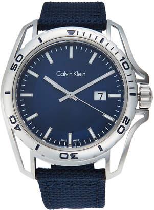 Calvin Klein K5Y31UVN Silver-Tone & Blue Watch