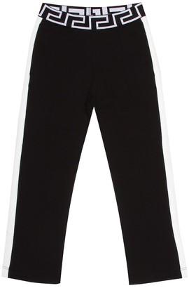 Versace Kids Cotton jersey trackpants