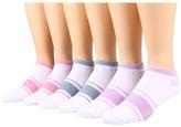 Ecco Socks - No Show w/ Stripe 6 Pack Women's Crew Cut Socks Shoes