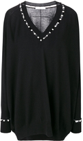 Givenchy Faux Pearl Trim Sweater