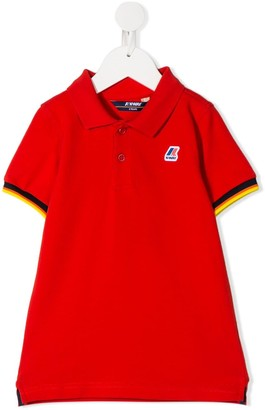 K Way Kids Logo Stripe Polo Shirt
