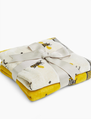 Marks and Spencer Cotton Bee Pattern Towel Gift Pack