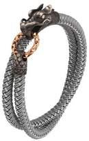 John Hardy Naga Nylon Cord Wrap Bracelet, Gray