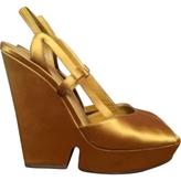 Saint Laurent Yellow Heels