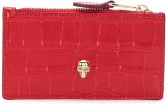 Alexander McQueen Skull stud zip purse