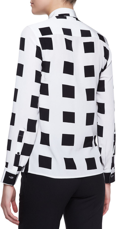 Kenzo Sequined Square-Print Blouse