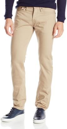The Unbranded Brand Men's UB307 Straight Beige Selvedge Chino