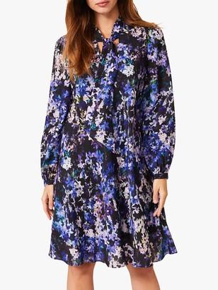 Phase Eight Catriona Floral Print Blouson Sleeve Dress, Multi