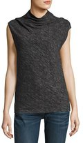 Theory Cowl Shell Woodsen Sleeveless Top, Black