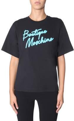 Boutique Moschino Neon Logo Print T-Shirt